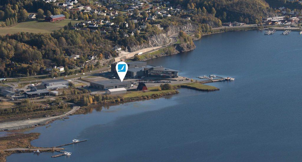 Pilot Flight Academy location at Notodden - birds view