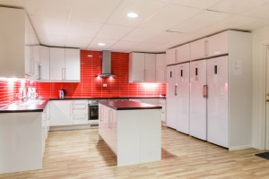 Shared kitchen in dorm building 1